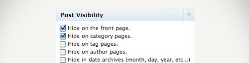 Gérer la visibilité de vos articles et pages WordPress !