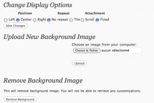 Changer arrière plan de WordPress 3.0