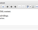 Secondary HTML Content WordPress