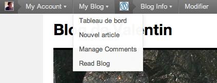 Barre d'administration de WordPress 3.1