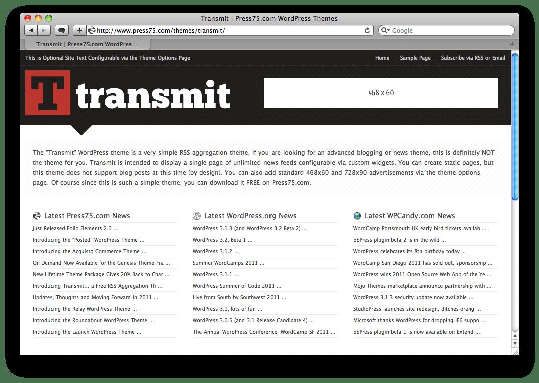Thème WordPress Transmit