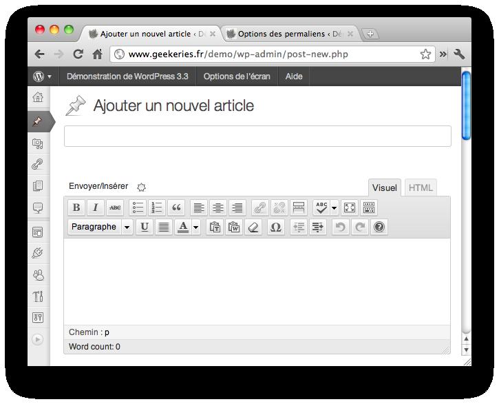 CSS3 WordPress 3.3